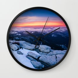 Lenticular Sunset Wall Clock