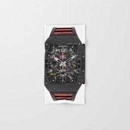 Richard Mille RM011 Felipe Massa Carbon Black Automatic Flyback Chronograph 49MM Watch Hand & Bath Towel