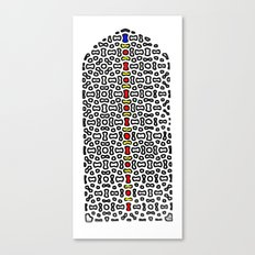 Mughal Window in color Canvas Print