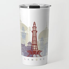 Lahore skyline poster Travel Mug