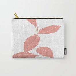 One line plant drawing - Berry Pink Carry-All Pouch