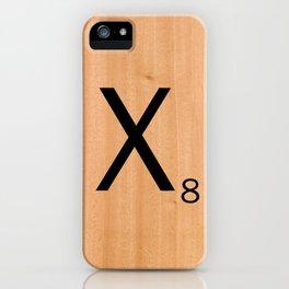Scrabble Letter Tile - X iPhone Case