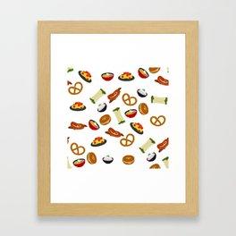 all the food Framed Art Print