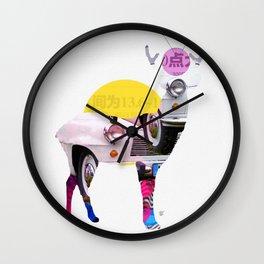 Deer Old Times Wall Clock