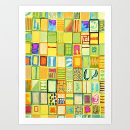 101 Images Art Print