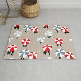 On a rainy day pattern Rug