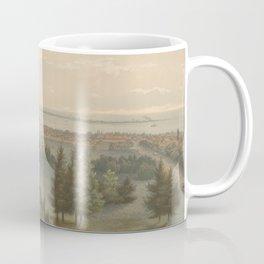 Vintage Pictorial View of Toronto Canada (1851) Coffee Mug