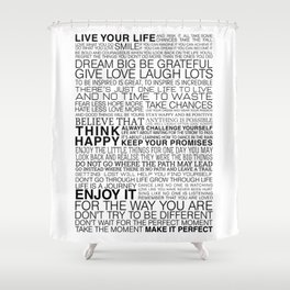 Life Manifesto Shower Curtain