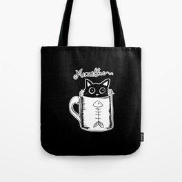 Hand Drawing Meowffee Tote Bag