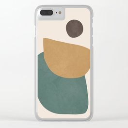 Abstract Minimal Shapes III Clear iPhone Case