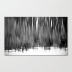 Abstract Trees Monochrome Canvas Print