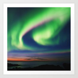 The Northern Lights 02 Art Print