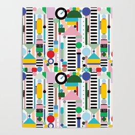 Memphis Milano Postmodern City Towers Poster