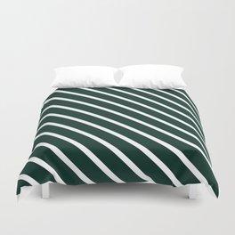 Deep Forest Diagonal Stripes Duvet Cover