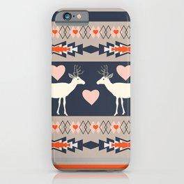 Romantic deer iPhone Case