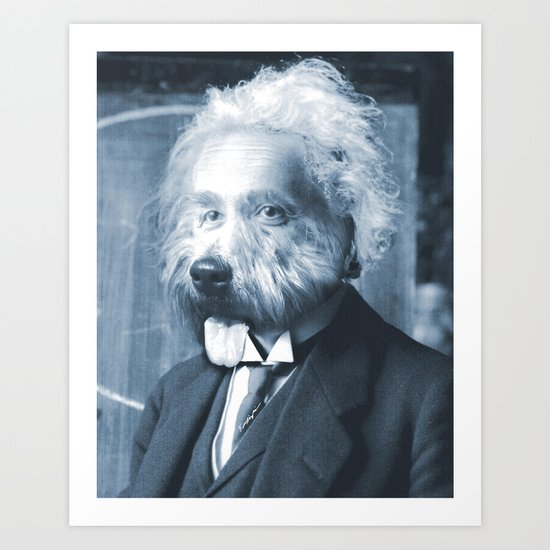 Albie Einstein Art Print
