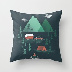 Pitch a Tent Throw Pillow