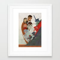 evangelion Framed Art Prints featuring Evangelion by wwww