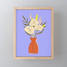 Red Violet Florals Framed Mini Art Print