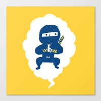 ninja Canvas Prints featuring Ninja by taichi_k