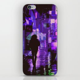 Neon City Nights iPhone Skin