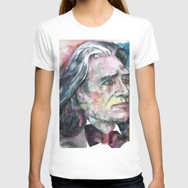 FRANZ LISZT - watercolor portrait.2 T-shirt