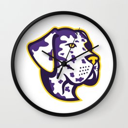 Great Dane Dog Mascot Wall Clock