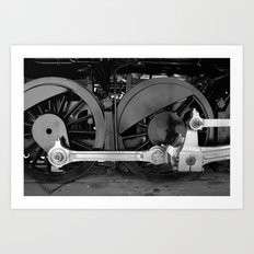 Train parts - Wheels Art Print
