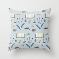 literature Throw Pillows featuring Classic Literature by Meghan Hill