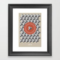Geometria   Orange Framed Art Print