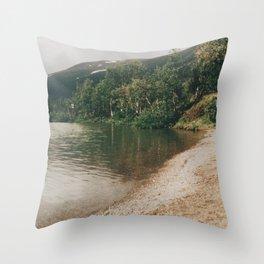 Lapland Lake Throw Pillow