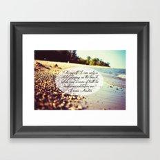 Isaac Newton Beach Quote Framed Art Print