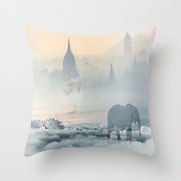 Walking through your dreams Throw Pillow