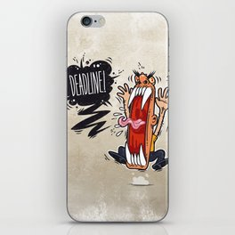 Angry Boss Screaming Deadline iPhone Skin