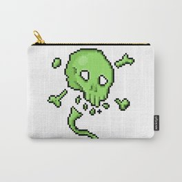 Retro Pixel : Poison Skull Carry-All Pouch