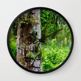 Plants on Trunk Wall Clock
