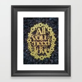 "Paper cut- ""All you need is love"" wall decor Framed Art Print"