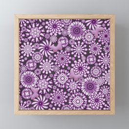 Ceramic Flowers & Butterflies (Acai) Framed Mini Art Print