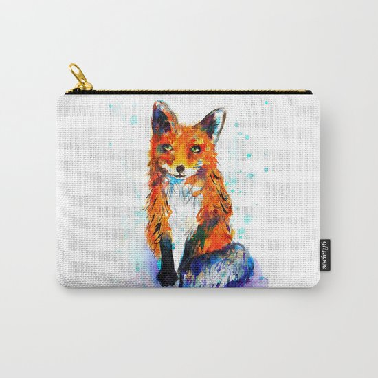 Little Fox in the Snow Carry-All Pouch