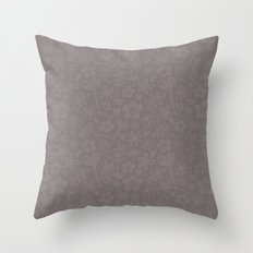 Mocha Doodles Throw Pillow