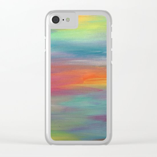 Opal Landscape Clear iPhone Case