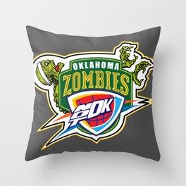 Zombie Sonics Throw Pillow