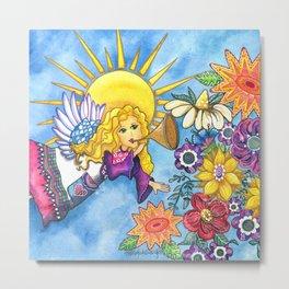 Angelic Flowers Metal Print