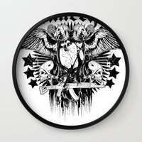 sons of anarchy Wall Clocks featuring Anarchy by Tshirt-Factory