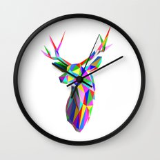 3D Stag Wall Clock