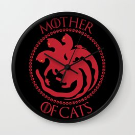 Mother of Cats For Cat Lovers Wall Clock