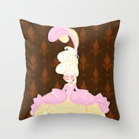 marie antoinette Throw Pillows featuring Marie Antoinette  by Delucienne Maekerr