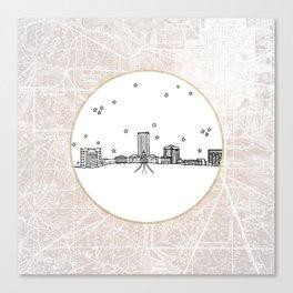 Tallahassee, Florida City Skyline Illustration Drawing Canvas Print