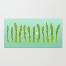 Asparagus Say Hi! Canvas Print