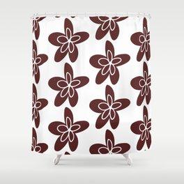 Burgundy flowers Shower Curtain